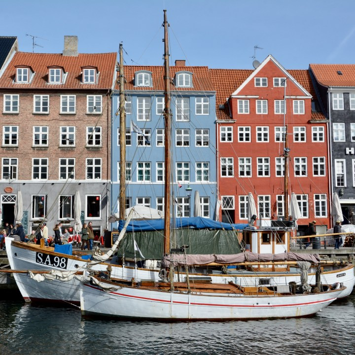 travel with kids children Copenhagen Denmark nyhavn canal sailing boat