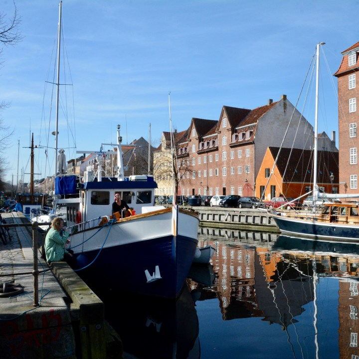 travel with kids children copenhagen denmark christianshavn canal side cafe