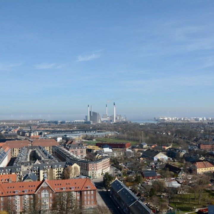 travel with kids children copenhagen denmark christianshavn our saviour church view