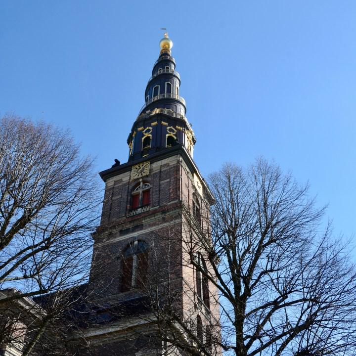 travel with kids children copenhagen denmark christianshavn vor frelsers kirke spire