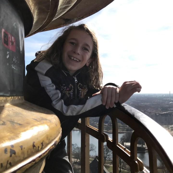 travel with kids children copenhagen denmark christianshavn our saviour church spire top