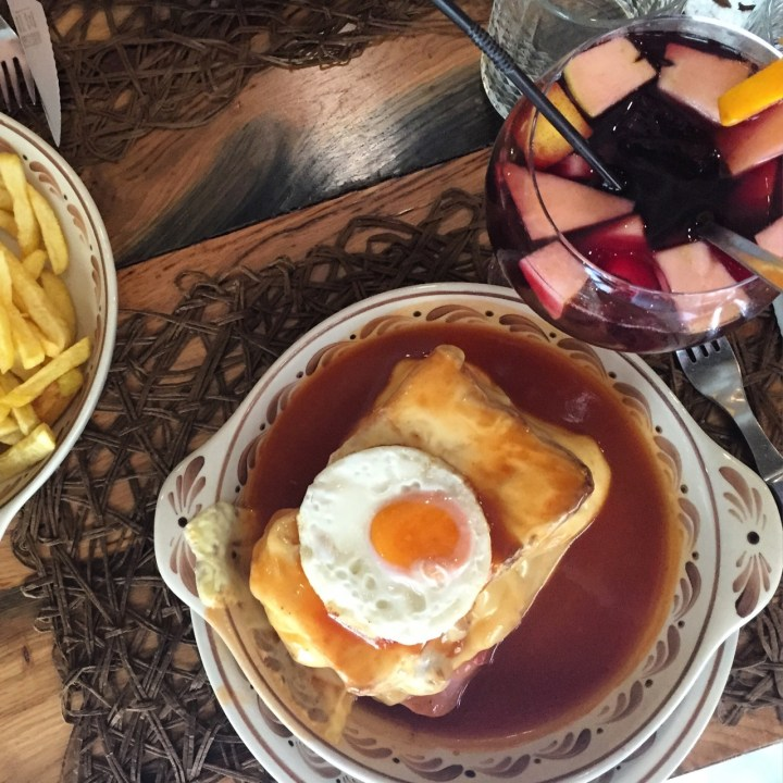 travel with kids children porto portugal francesinha restaurant brasao