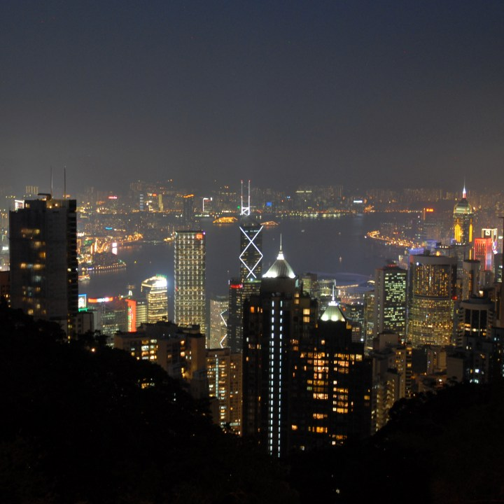 travel with kids children hong kong the peak by night