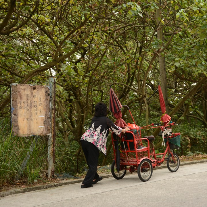 travel with kids children cheung chau island hong kong cart