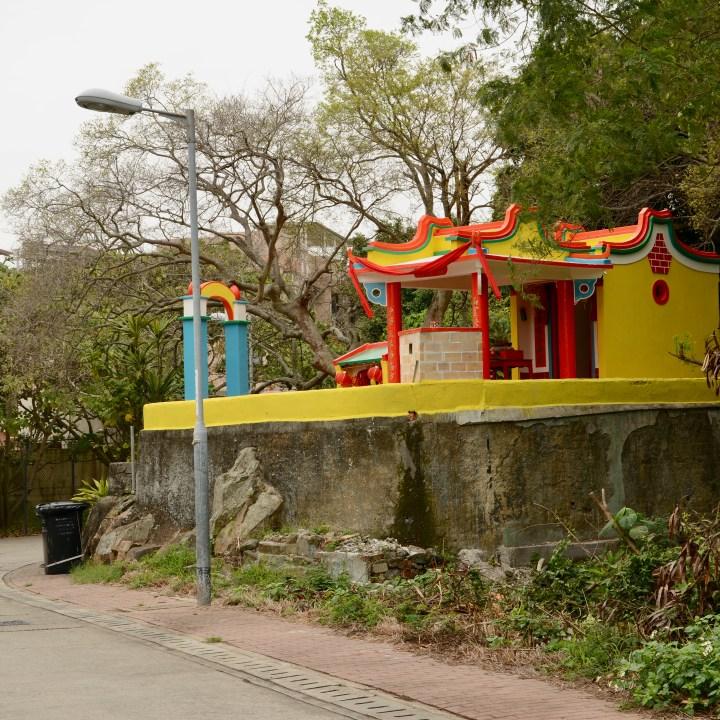 travel with kids children peng chau hong kong seven sisters temple