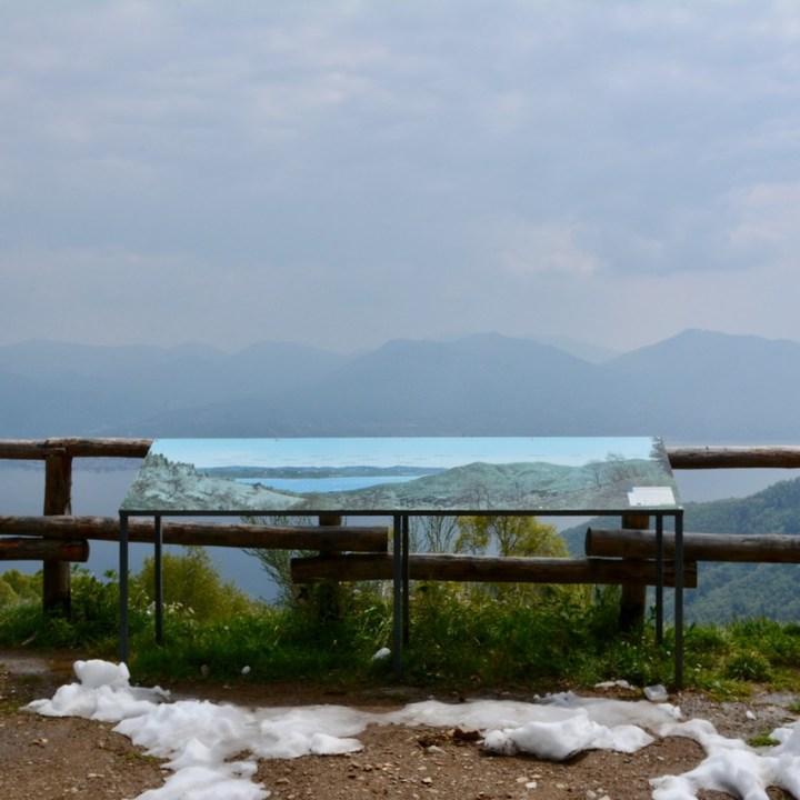 travel with kids children mount pian bello lago maggiore italy information board