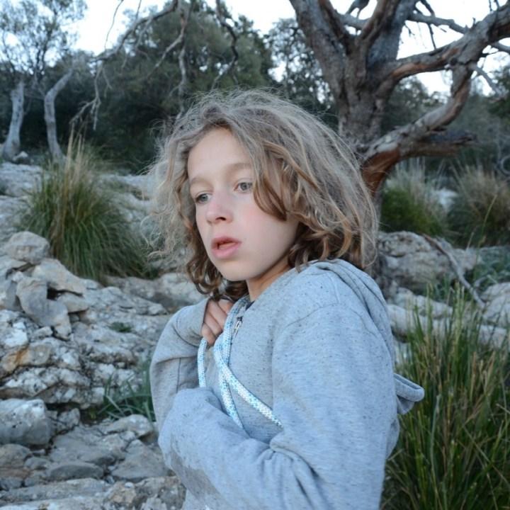 travel with kids children soller mallorca spain hiking torrent de pareis rope