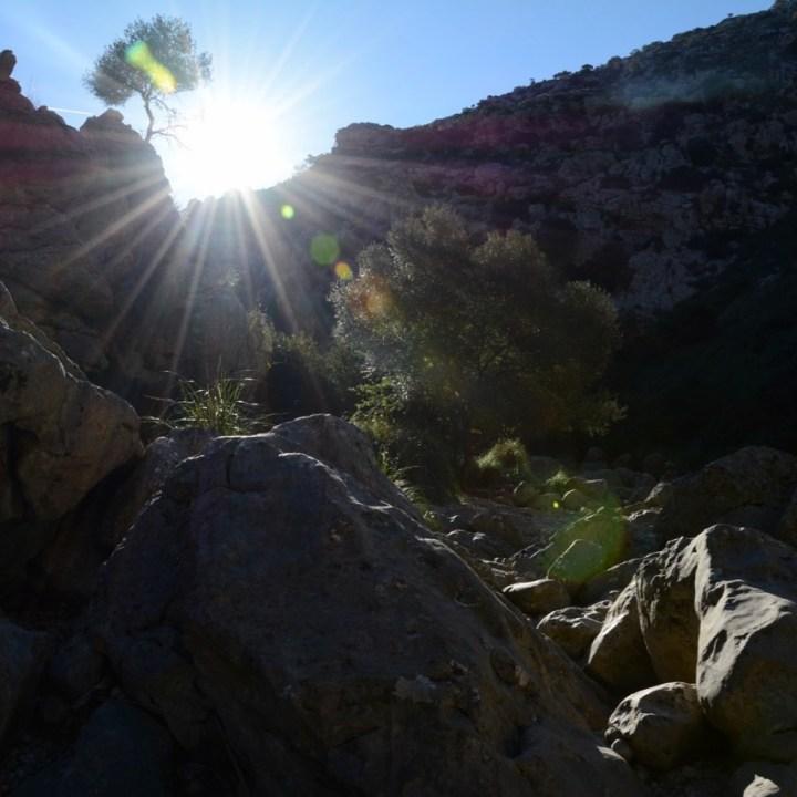travel with kids children soller mallorca spain hiking torrent de pareis sunshine