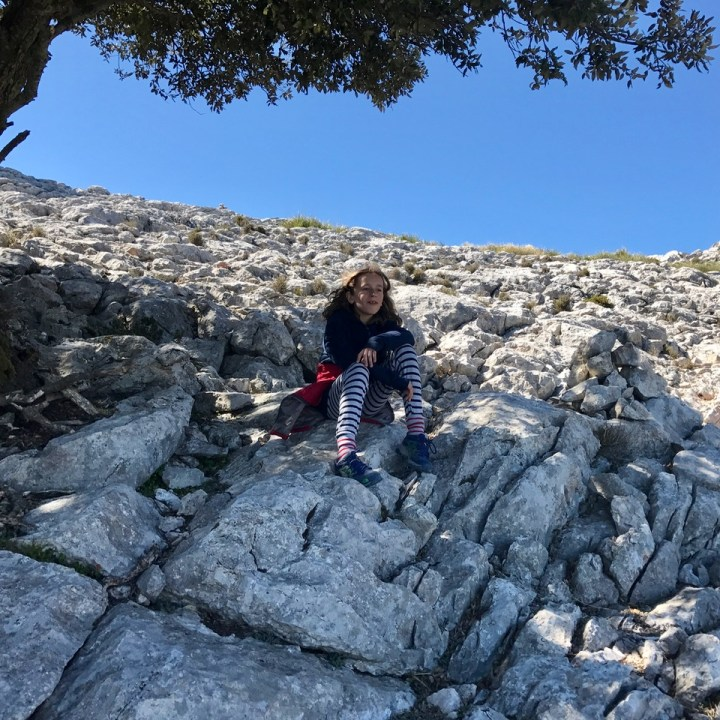 travel with kids children soller mallorca spain three mountain tops hike lofre pause
