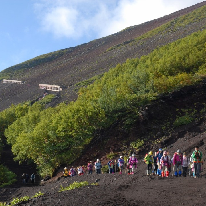 travel with kids climbing mount fuji japan hikers