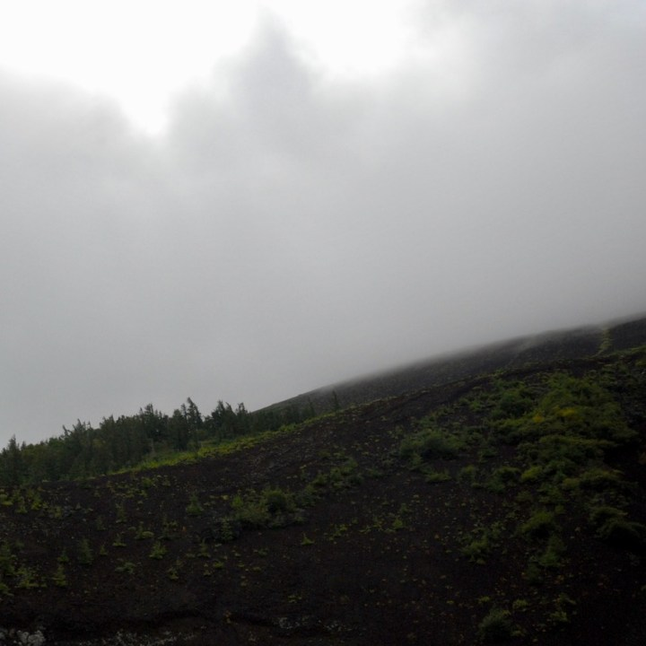 travel with kids hiking mount fuji japan clouds
