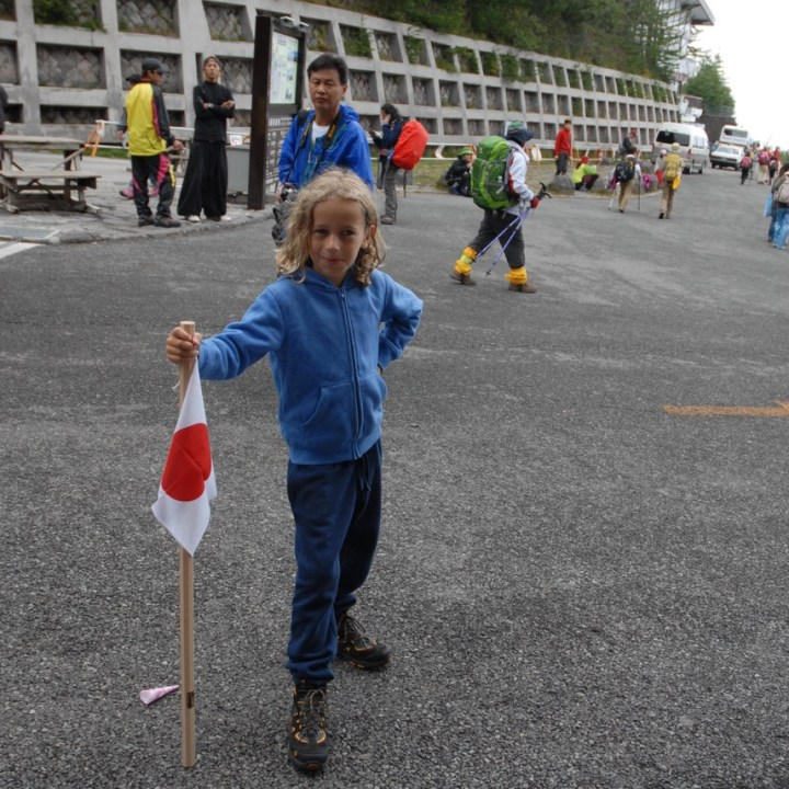 travel with kids hiking mount fuji japan tour
