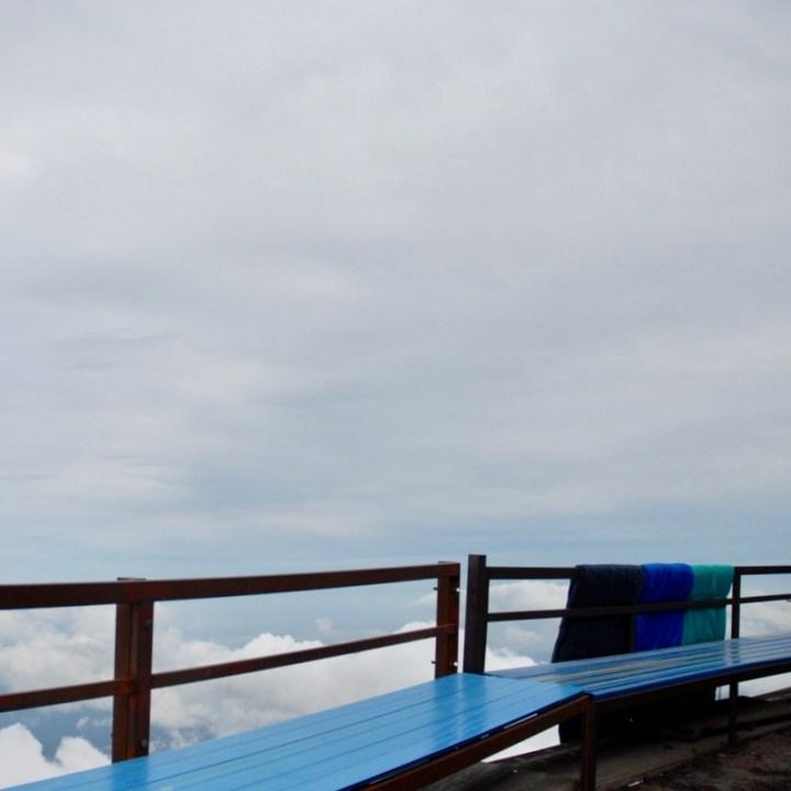 travel with kids hiking mount fuji japan benches