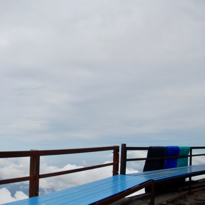 travel with kids hiking mount fuji japan benches