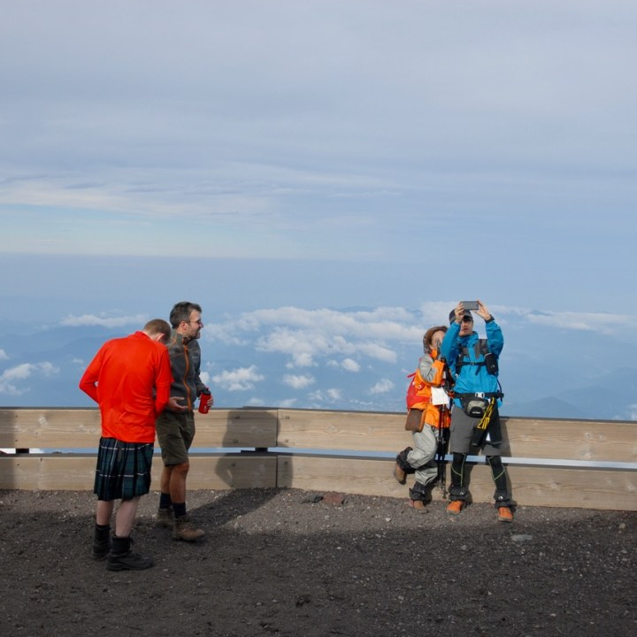 travel with kids hiking mount fuji japan summit