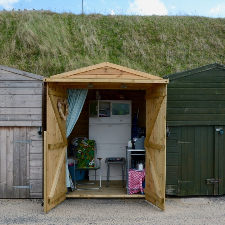 inside of a beach huts