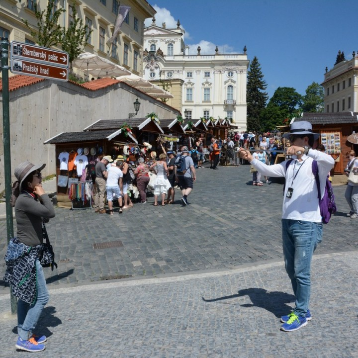 travel with kids prague tourists
