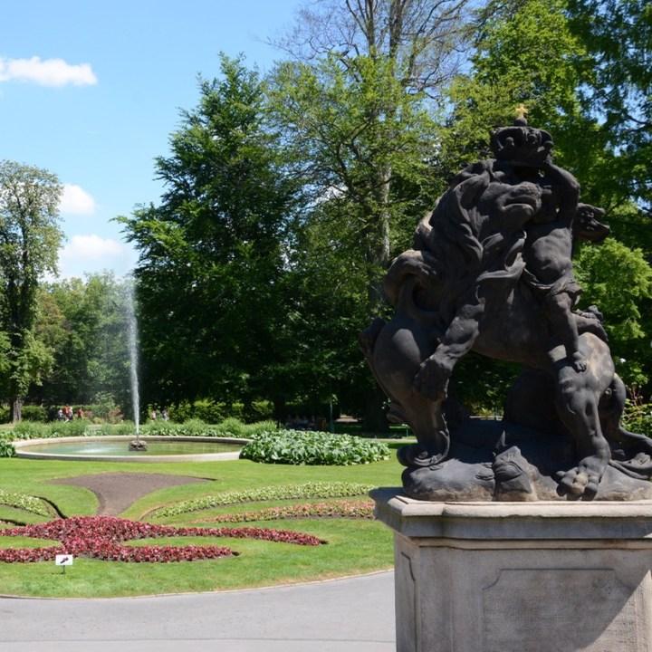 travel with kids prague royal garden statue