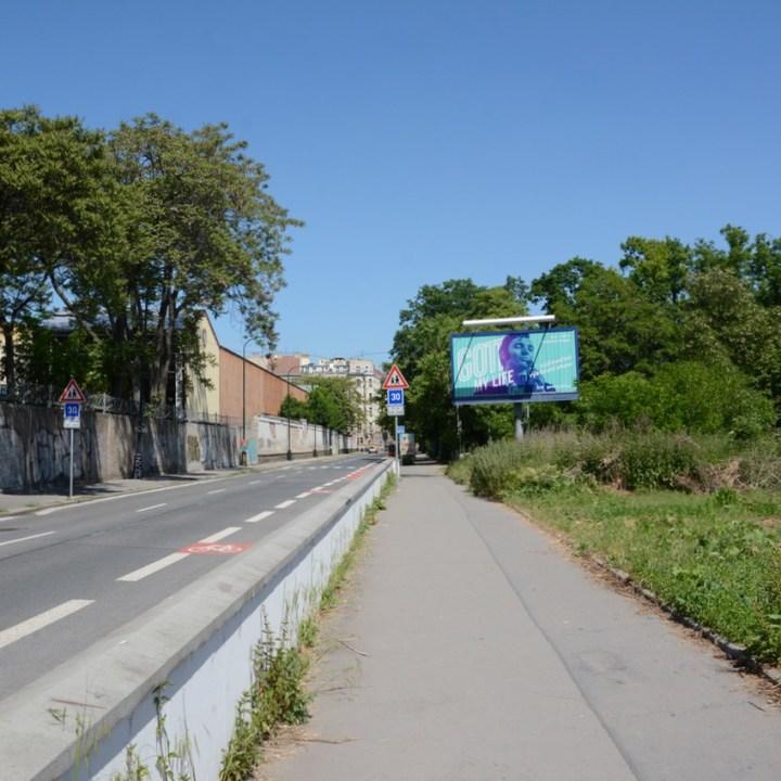 travel with kids prague billboard