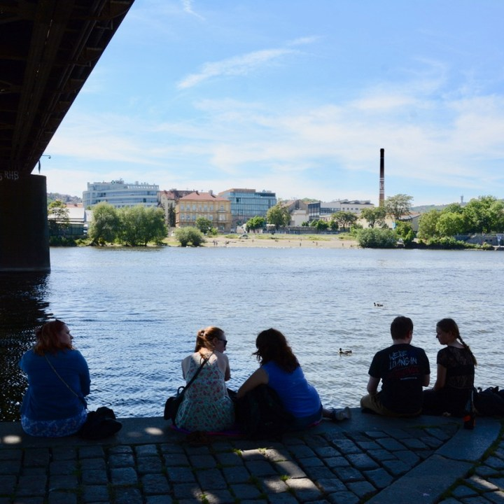 travel with kids prague bridge