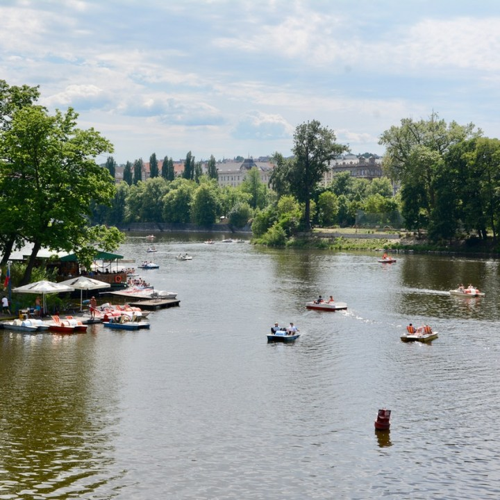 travel with kids prague pedal boat hire station