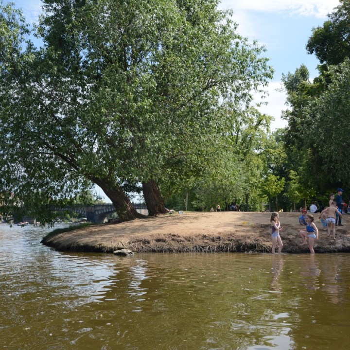 travel with kids prague river swim