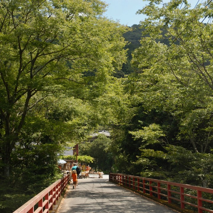 shimoda japan with kids kawazu seven waterfall bridge