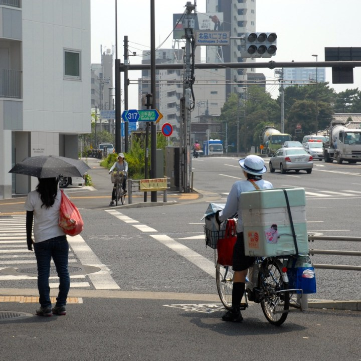 tokyo japan with kids cycling haneda delivery service