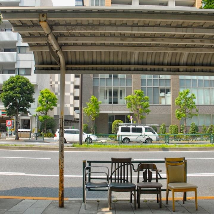 tokyo japan with kids cycling haneda bus stop