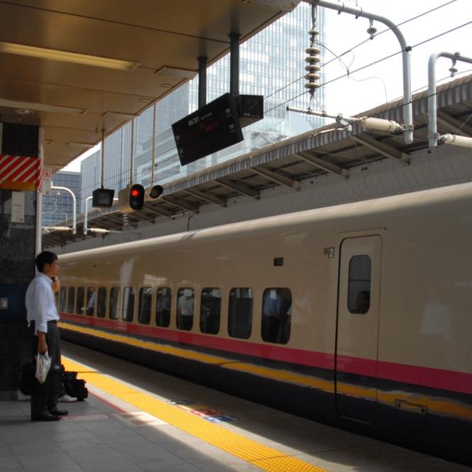 tokyo train museum with kids shinkansen platform