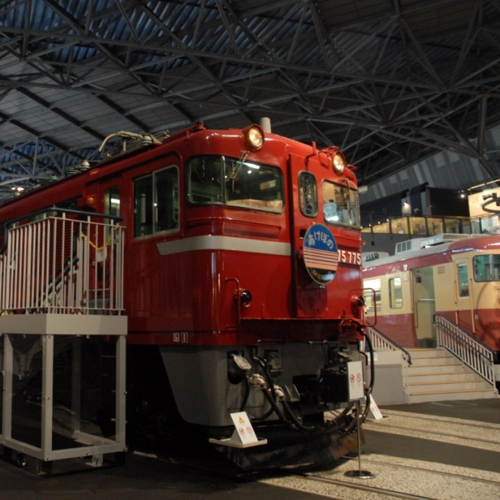 tokyo train museum with kids old trains