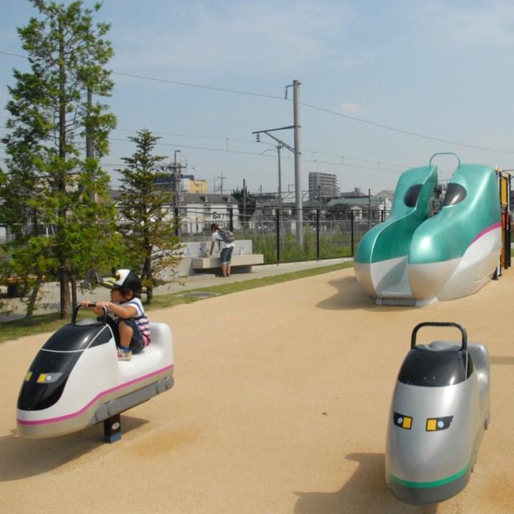 tokyo train museum with kids shinkansen playground