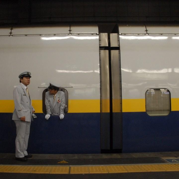 tokyo train museum with kids shinkansen guards