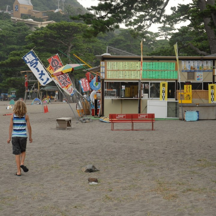 heda japan with kids izu peninsular beach restaurant