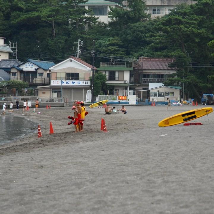 heda japan with kids beach life guards