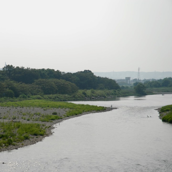 cycling the tama river tokyo japan with kids
