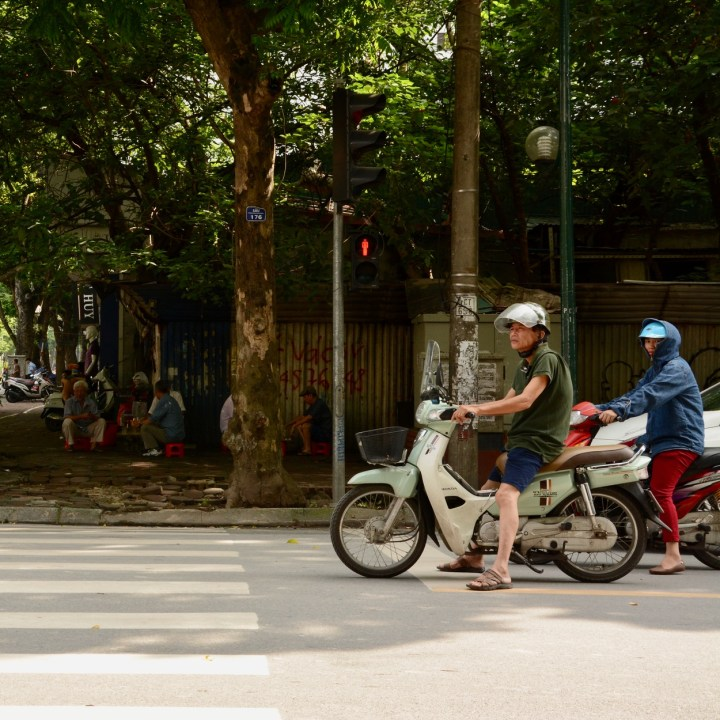 travel with kids vietnam hanoi moped