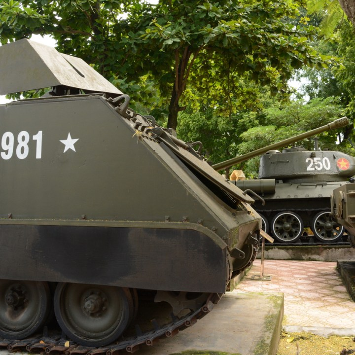 travel with kids vietnam hanoi tanks