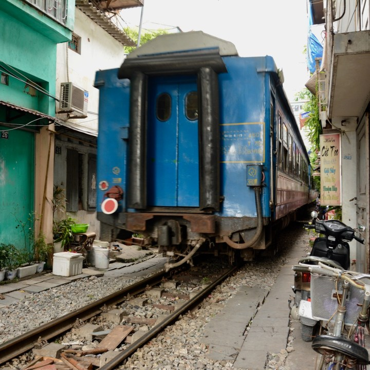 travel with kids vietnam hanoi train back