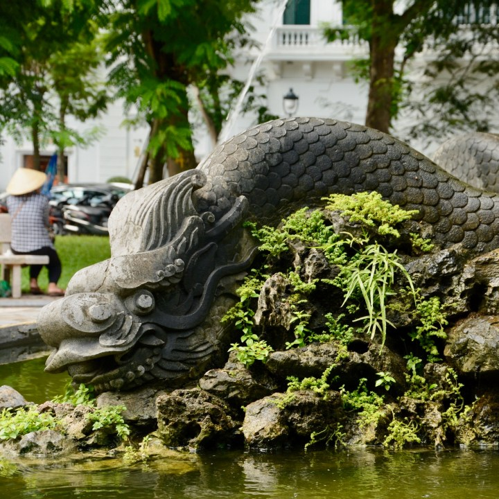 travel with kids vietnam hoi an fountain dragon
