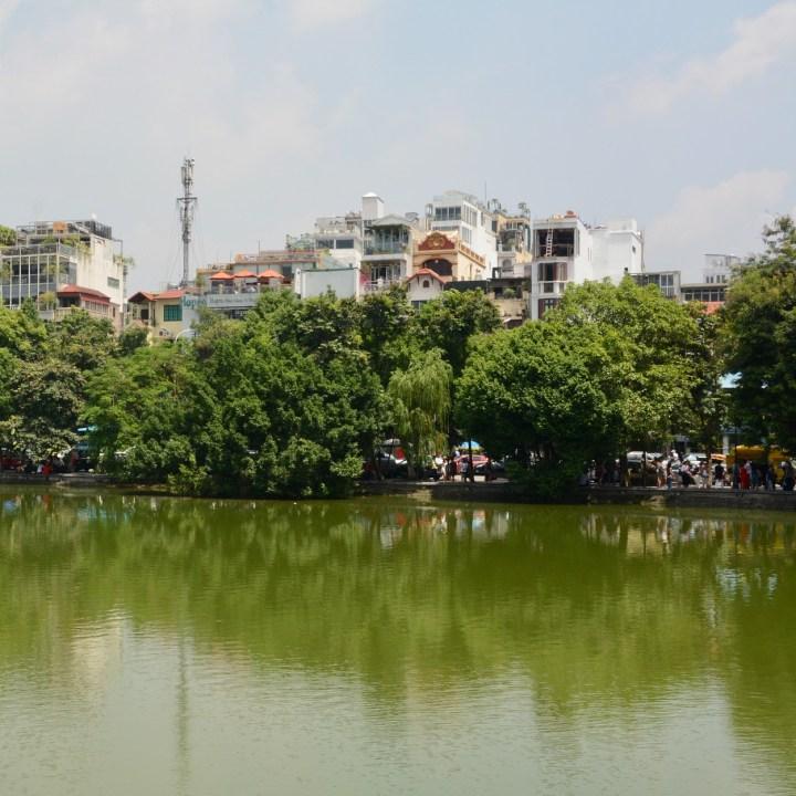 travel with kids vietnam hoi an hoan kiem lake buildings