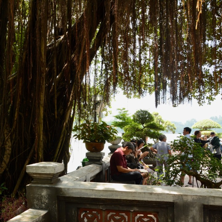 travel with kids vietnam hoi an ngoc son temple visitors
