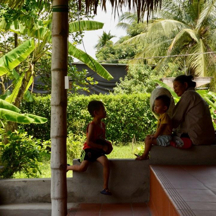 vietnam with kids ha long bay local children