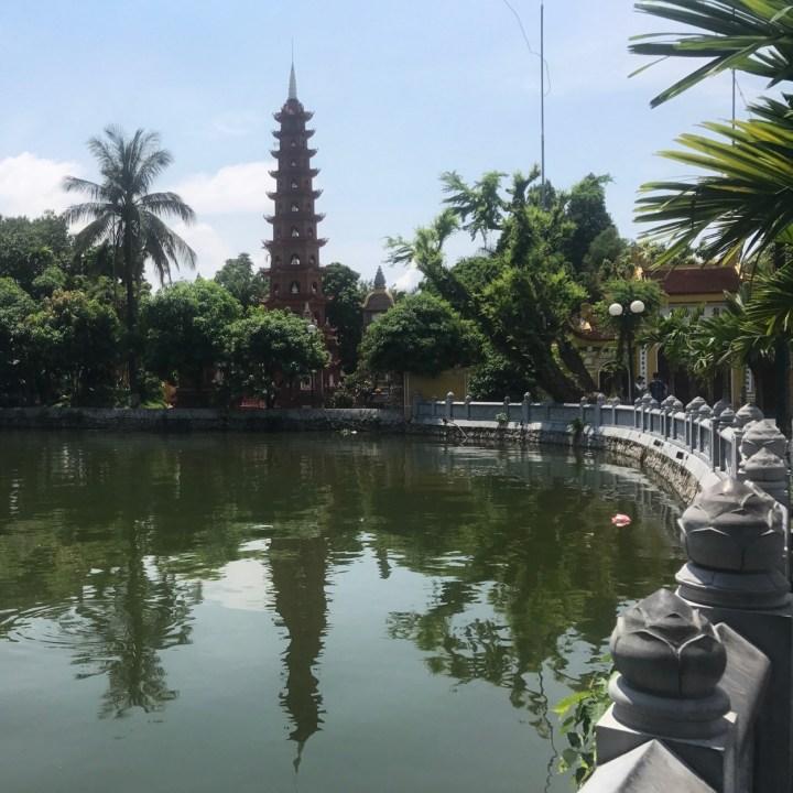 travel with kids vietnam hanoi pagoda