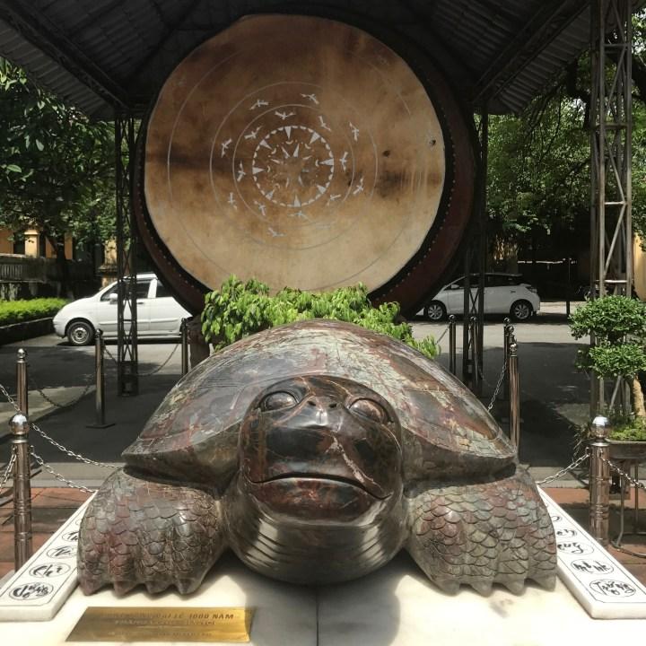 travel with kids vietnam hanoi citadel turtle and drum