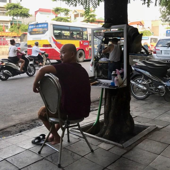travel with kids vietnam hanoi barber