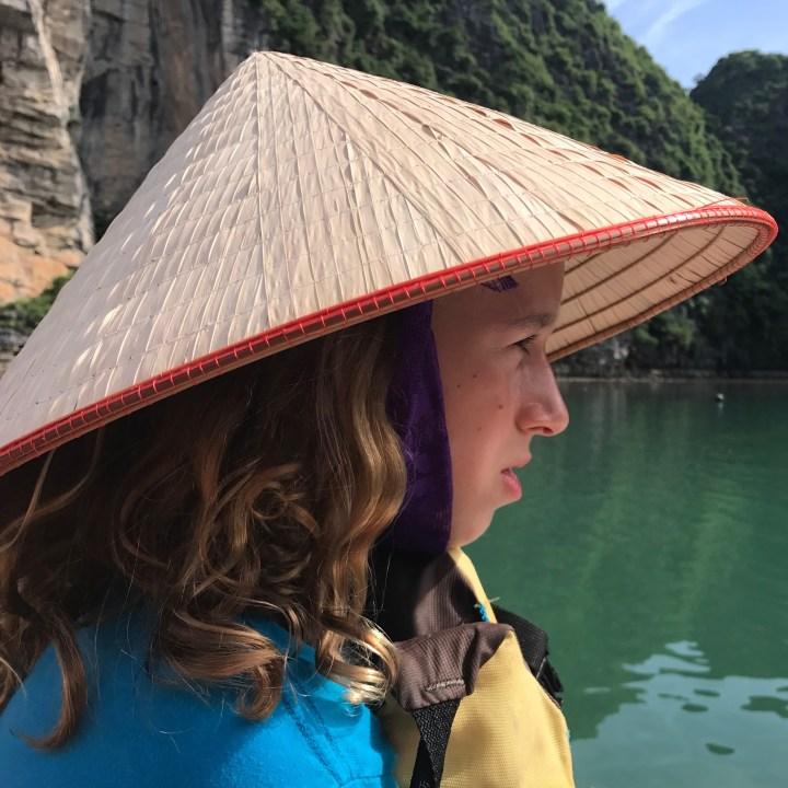 travel with kids bay tu long bay kayaking