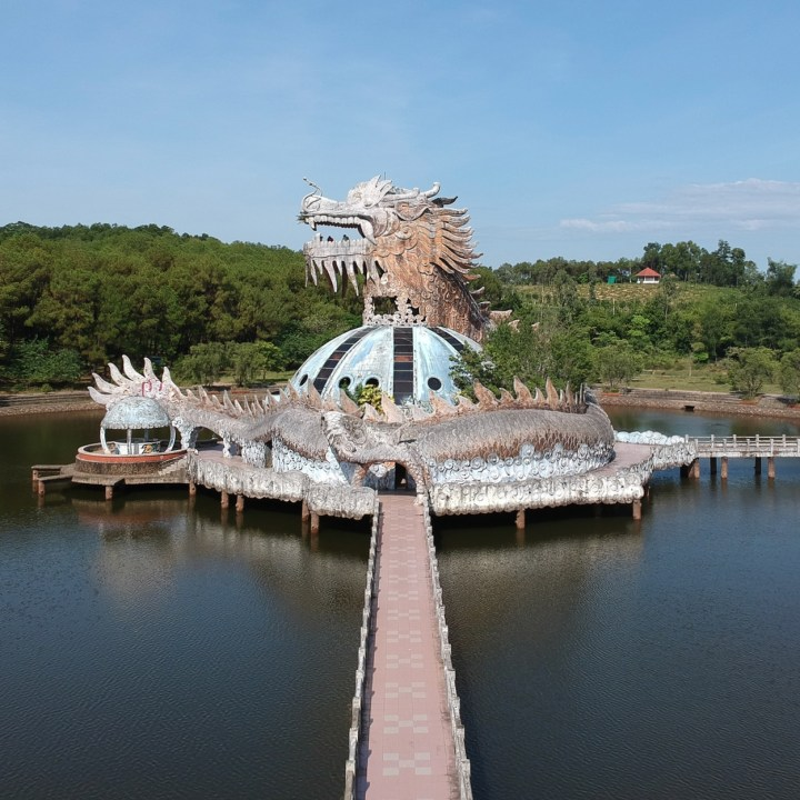 vietnam with kids hue abandoned waterpark dragon