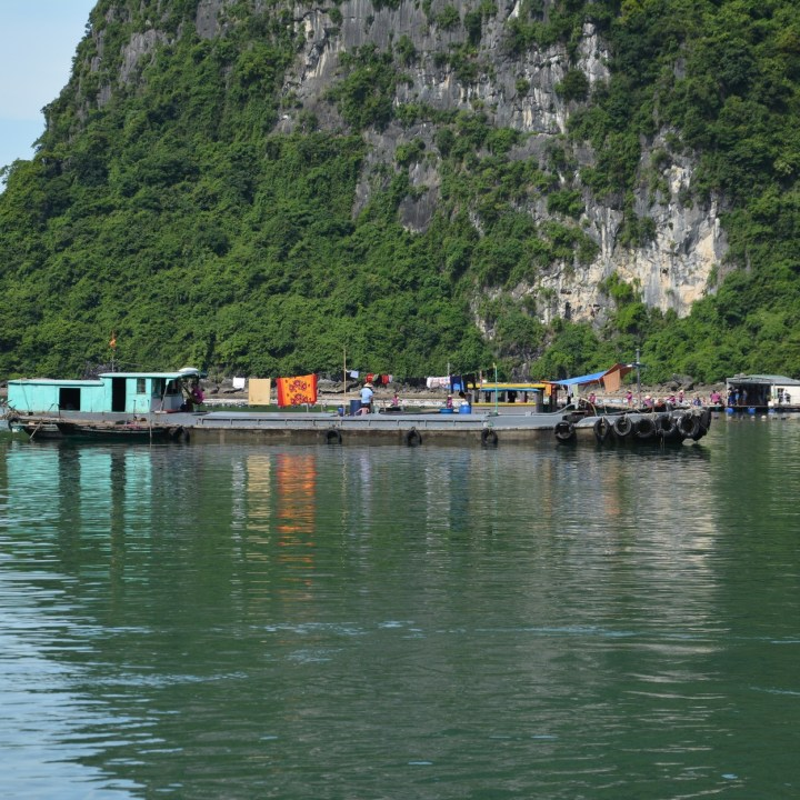 vietnam with kids ha long bay fisher boat