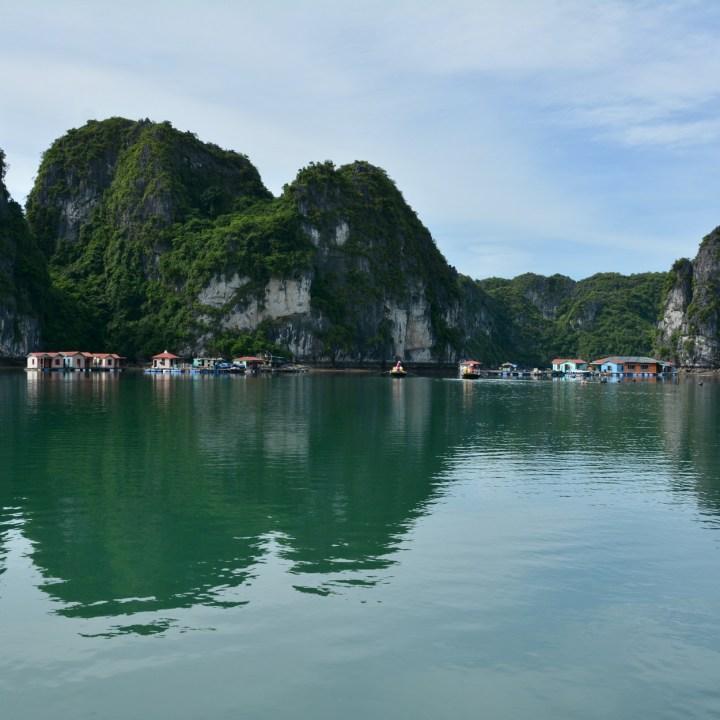 vietnam with kids ha long bay floating village